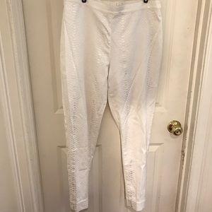 Soft Surroundings White snake print pant -medium